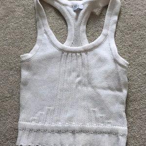 Tobi white sweater tank top